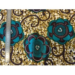 Africain or et turquoise
